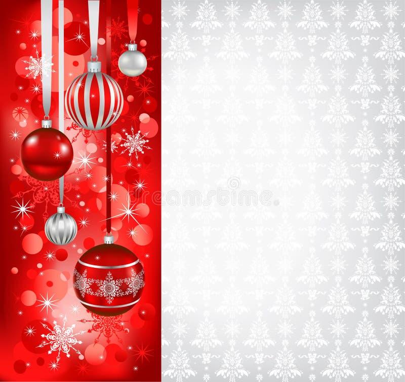 Fondo del día de fiesta de la Navidad stock de ilustración