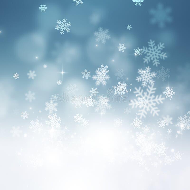 Fondo del día de fiesta de la nieve de la Navidad stock de ilustración