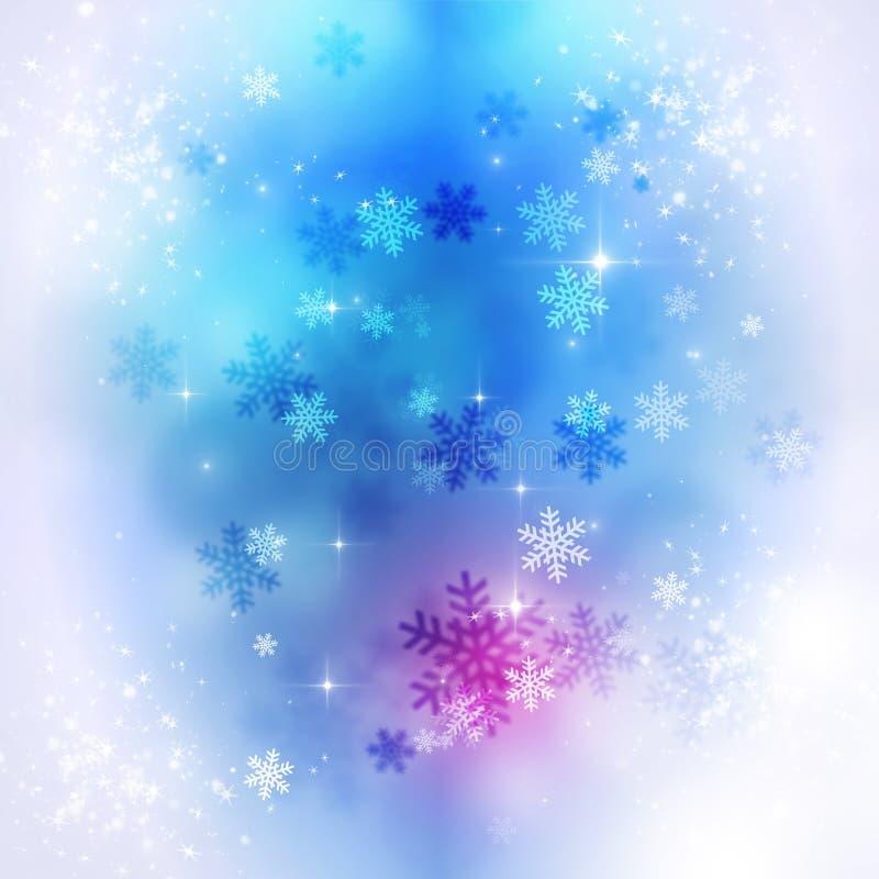 Fondo del día de fiesta de la nieve del invierno ilustración del vector