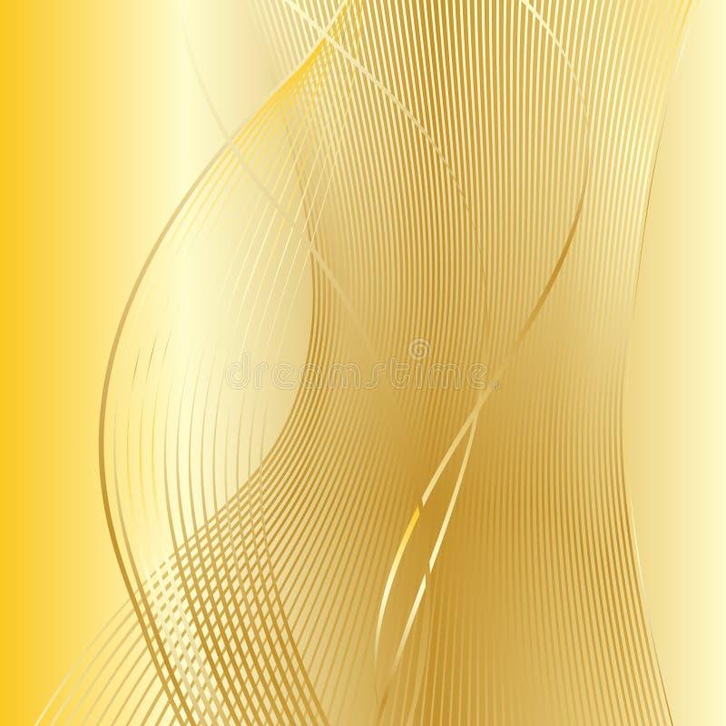 Fondo del día de fiesta de la onda del oro libre illustration
