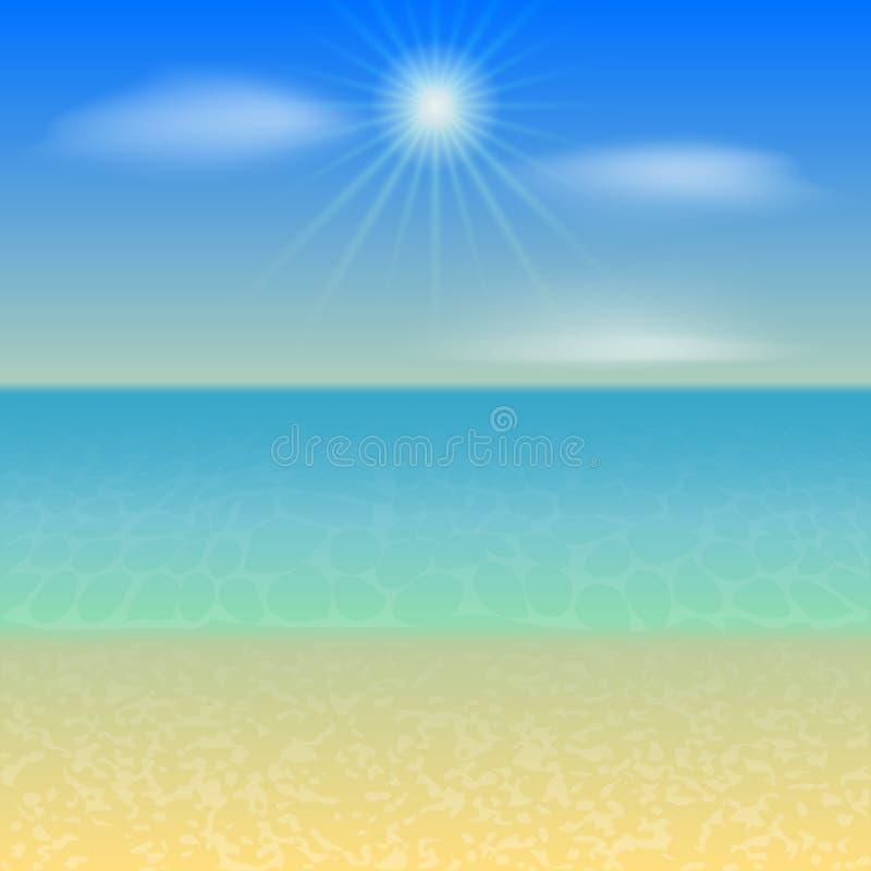Fondo del día de fiesta de la playa del vector ilustración del vector
