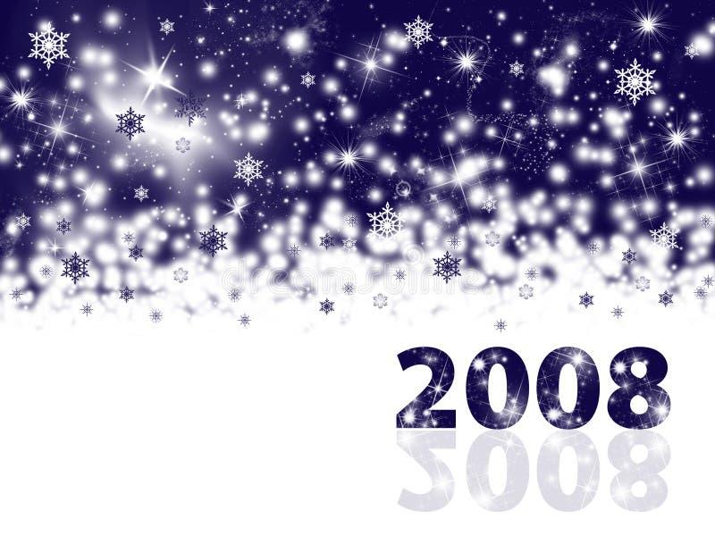 Fondo del día de fiesta del Año Nuevo ilustración del vector