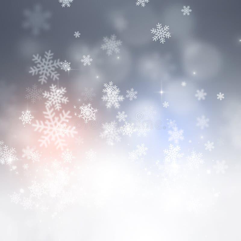 Fondo del día de fiesta de la nieve del invierno stock de ilustración