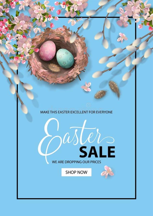 Fondo del día de fiesta de Pascua stock de ilustración