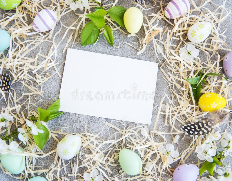 Fondo del día de fiesta de Pascua foto de archivo libre de regalías