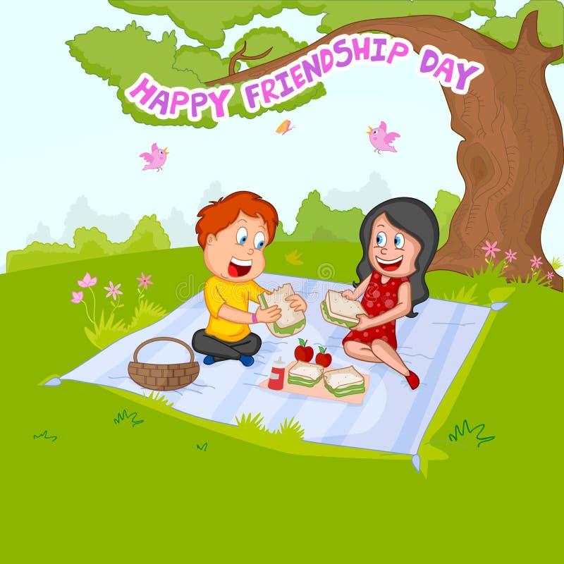 Fondo del día de la amistad stock de ilustración