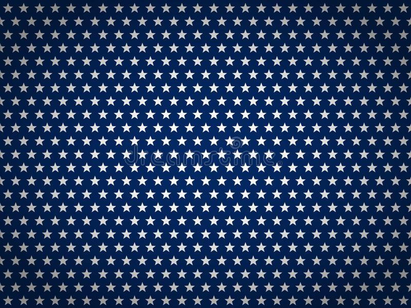 Fondo del Día de la Independencia de los E.E.U.U. Feliz el 4 de julio Bandera cepillada grunge abstracto del vector con el texto ilustración del vector