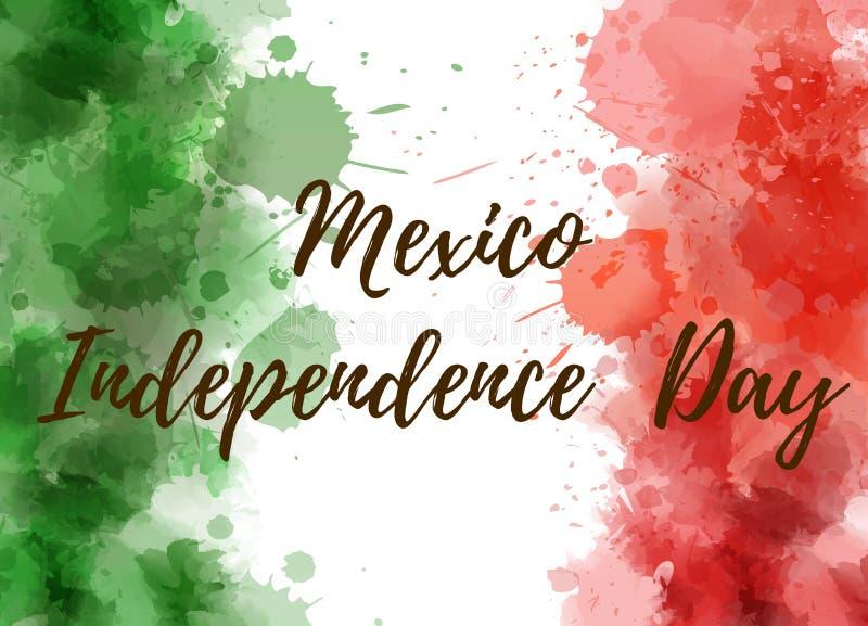 Fondo del Día de la Independencia de México ilustración del vector