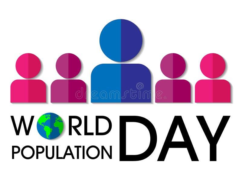 Fondo del día de la población de mundo stock de ilustración