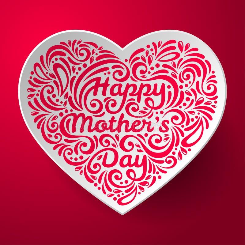 Fondo del día de madres con tridimensional stock de ilustración