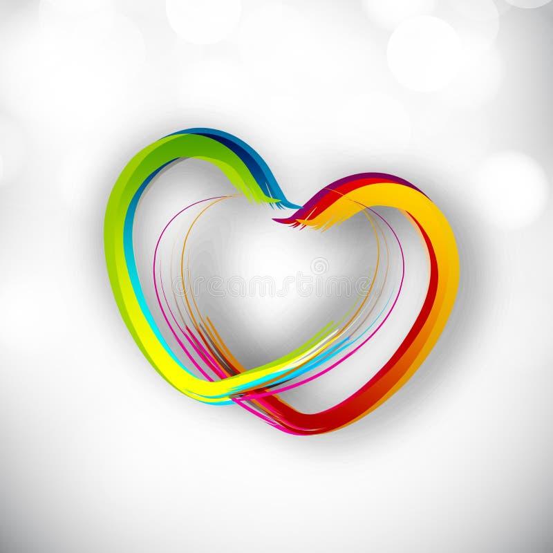 Fondo del día de tarjeta del día de San Valentín. ilustración del vector
