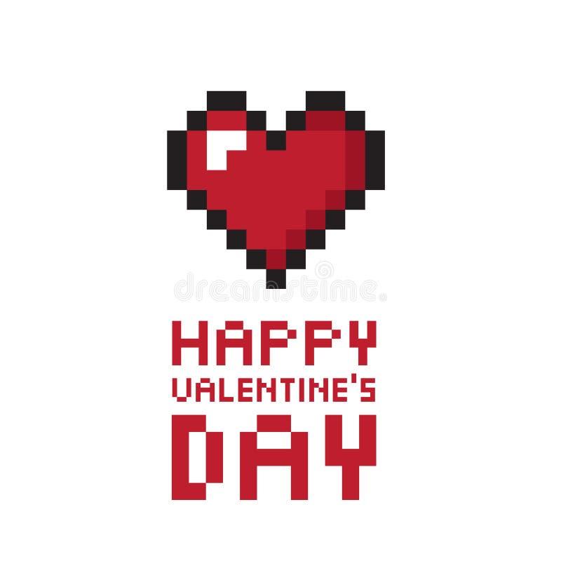 Fondo del día de tarjeta del día de San Valentín del pixel ilustración del vector