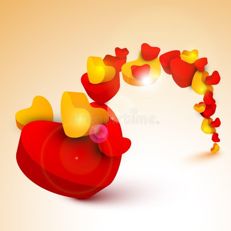 Fondo del día de tarjeta del día de San Valentín del St., regalo o tarjeta de felicitación hermoso ilustración del vector