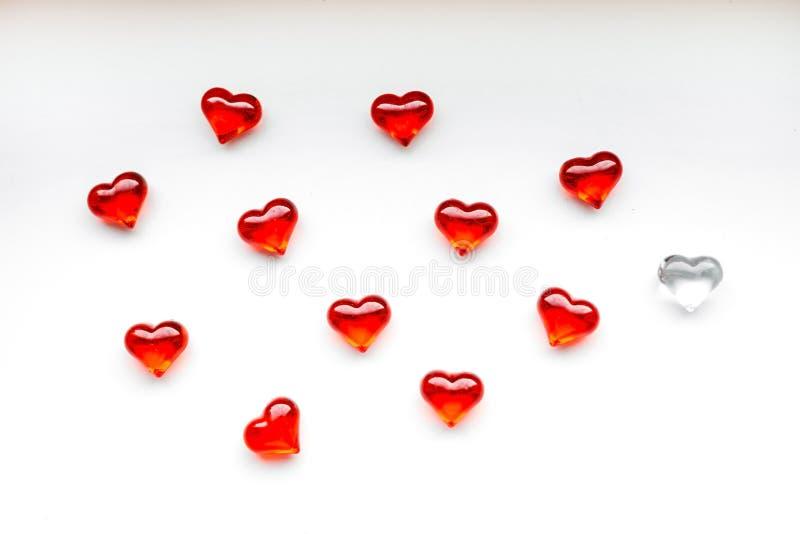 Fondo del día de tarjeta del día de San Valentín del St con los corazones rojos fotos de archivo