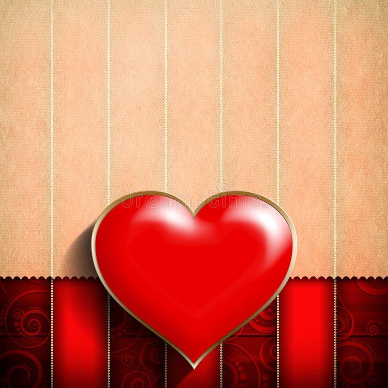 Fondo del día de tarjetas del día de San Valentín libre illustration