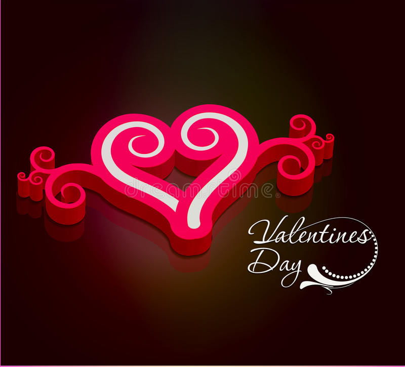 fondo del día de tarjetas del día de San Valentín 3d libre illustration
