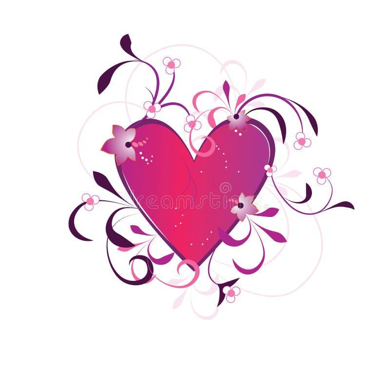 Fondo del día de tarjetas del día de San Valentín con el corazón stock de ilustración