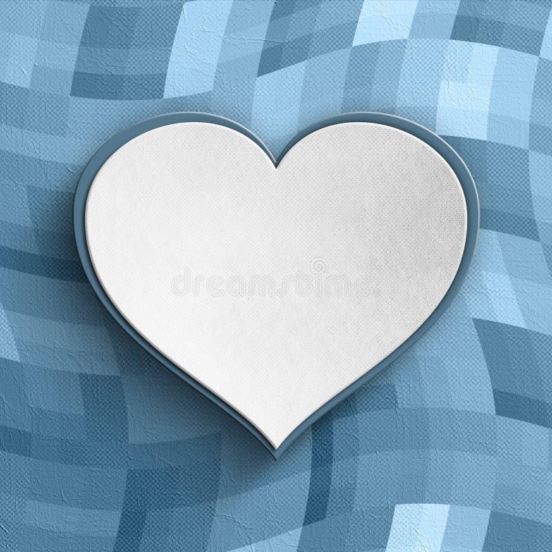 Fondo del día de tarjetas del día de San Valentín - corazón blanco en fondo modelado ilustración del vector