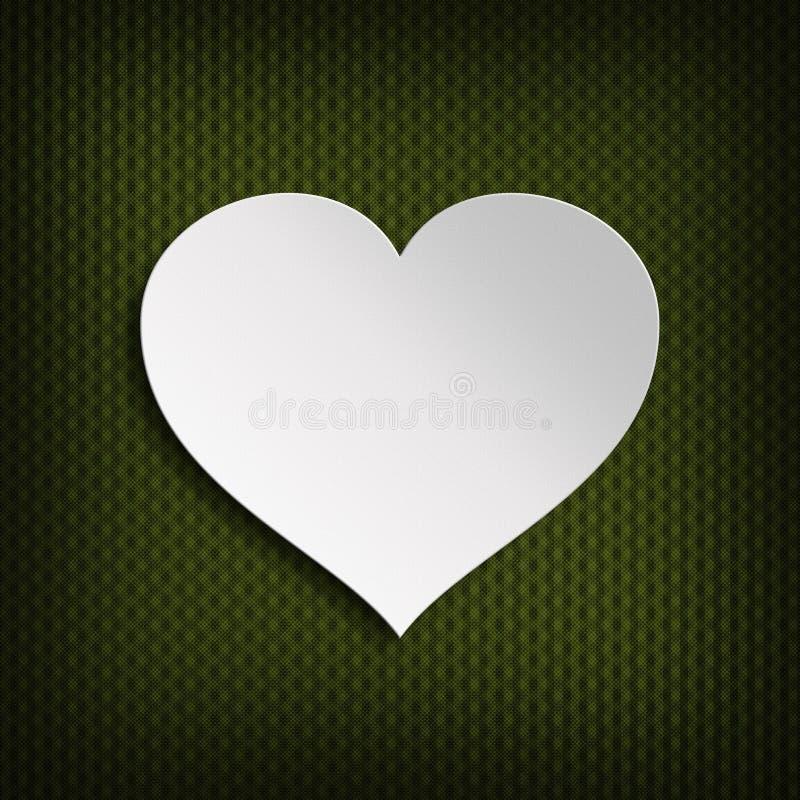 Fondo del día de tarjetas del día de San Valentín - corazón en fondo modelado ilustración del vector