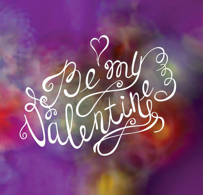 Fondo del día de tarjetas del día de San Valentín Diseño de letras del vector del dibujo de la mano Tarjeta de felicitación libre illustration
