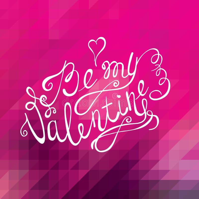 Fondo del día de tarjetas del día de San Valentín Diseño de letras del vector del dibujo de la mano Tarjeta de felicitación ilustración del vector