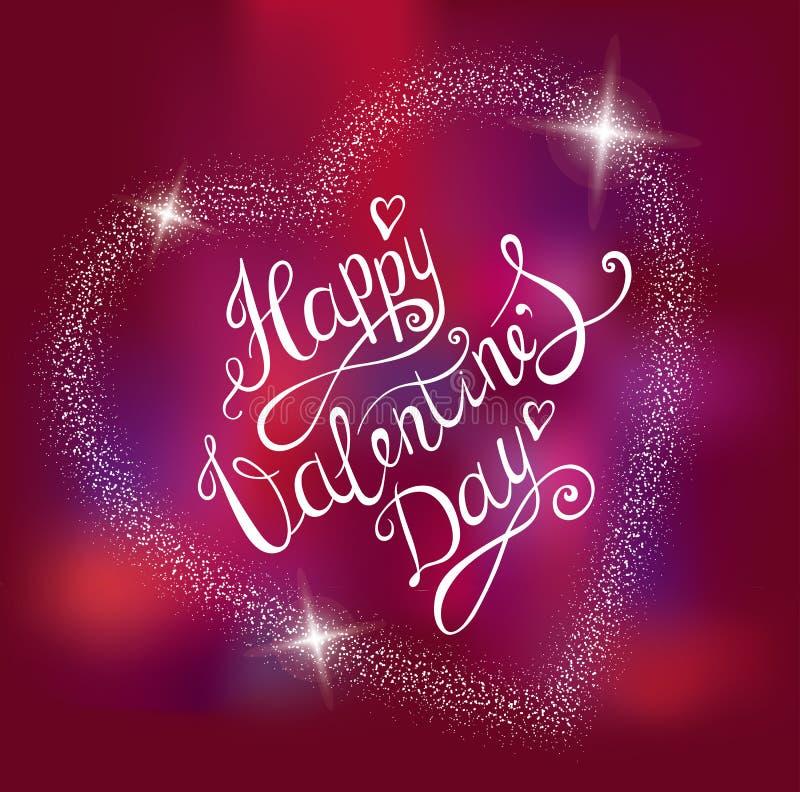 Fondo del día de tarjetas del día de San Valentín Diseño de letras del vector del dibujo de la mano Tarjeta de felicitación stock de ilustración