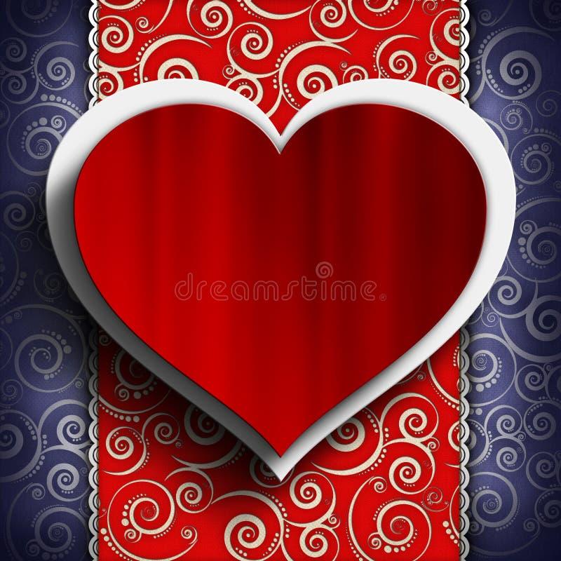 Fondo del día de tarjetas del día de San Valentín - plantilla de la tarjeta de felicitación libre illustration