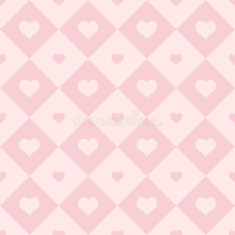 Fondo del día de tarjetas del día de San Valentín Modelo inconsútil del vector abstracto de corazones huecos rojos en baclground  libre illustration