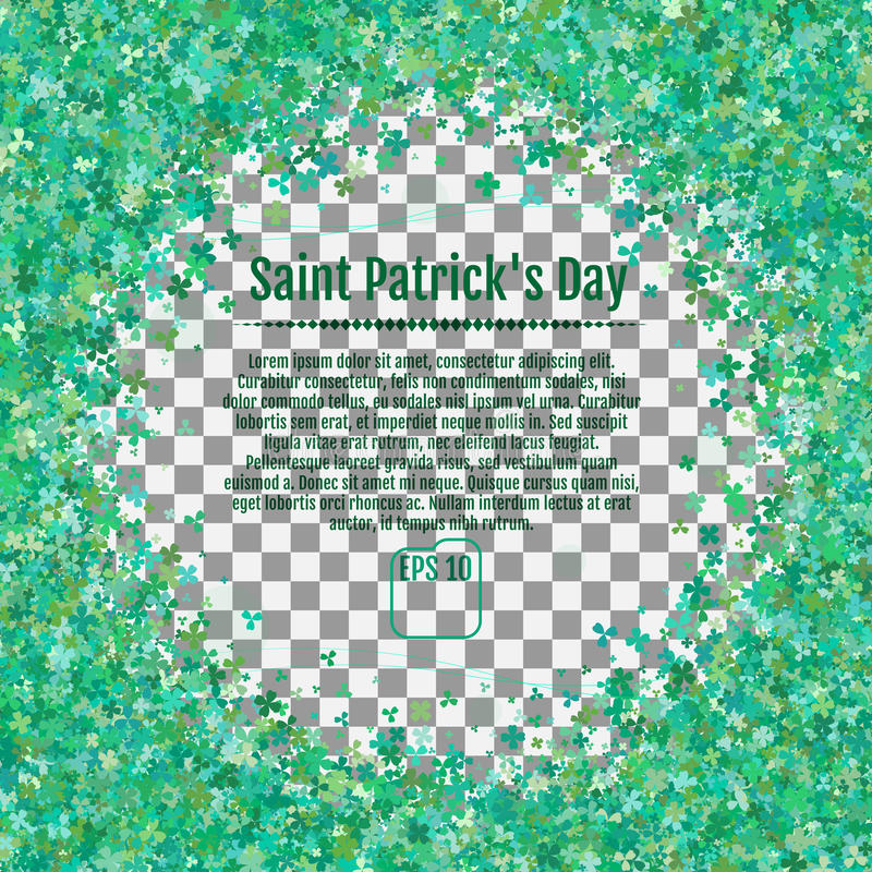 Fondo del día del ` s de St Patrick Ejemplo del vector en un transpa libre illustration