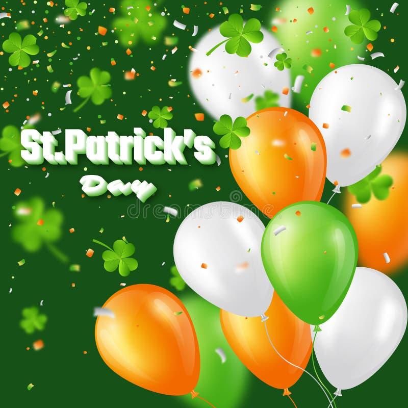 Fondo del día del `s del St Patrick stock de ilustración