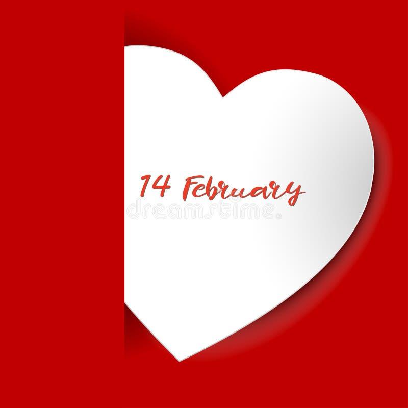 Fondo del día del ` s de la tarjeta del día de San Valentín ` Blanco s de la tarjeta del día de San Valentín del papel de la form libre illustration