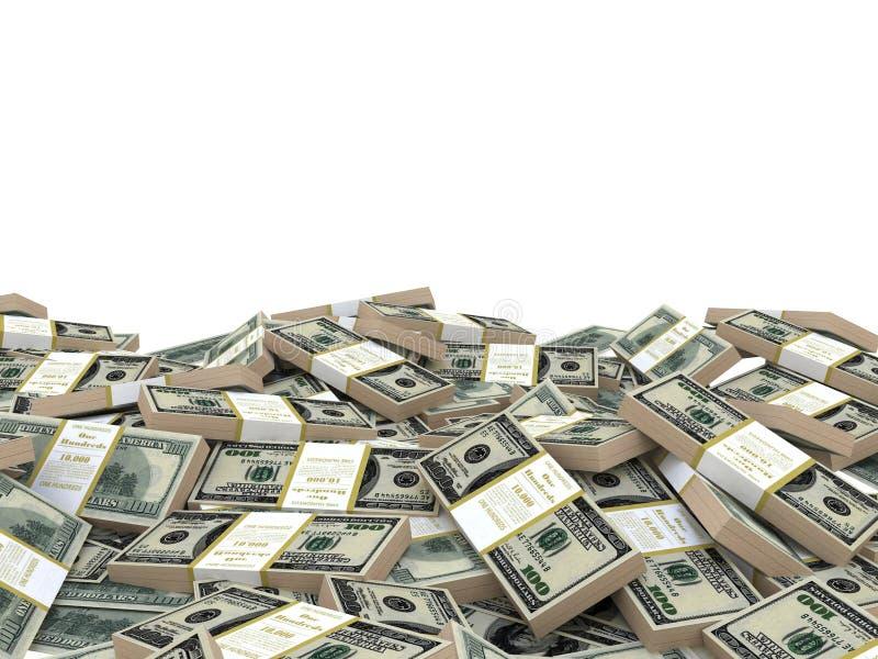 Fondo del dólar stock de ilustración