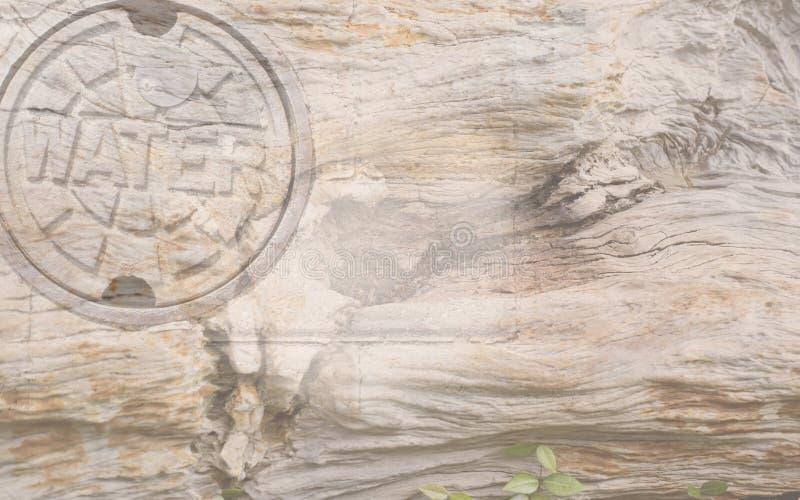 Fondo del ` del agua del ` con el grano de madera foto de archivo libre de regalías