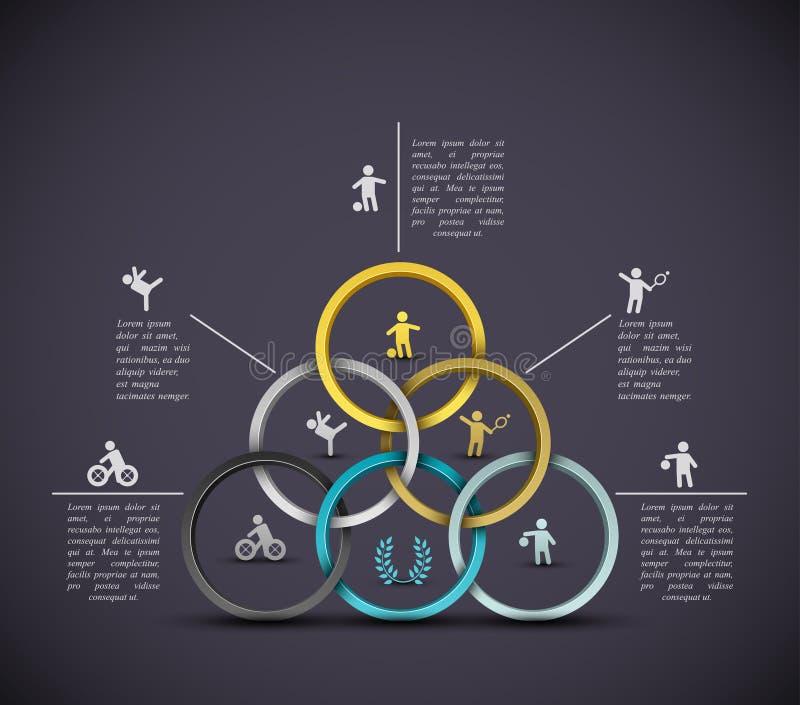 Fondo del deporte de Infographic ilustración del vector