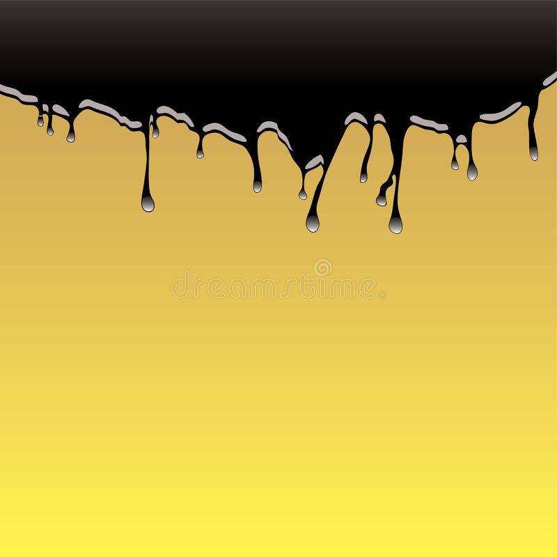 Fondo del derramamiento de petróleo ilustración del vector
