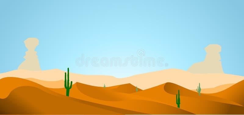 Fondo del desierto stock de ilustración
