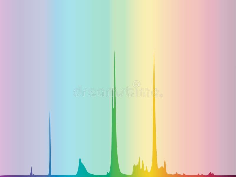 Fondo del diagrama del espectro de color ilustración del vector