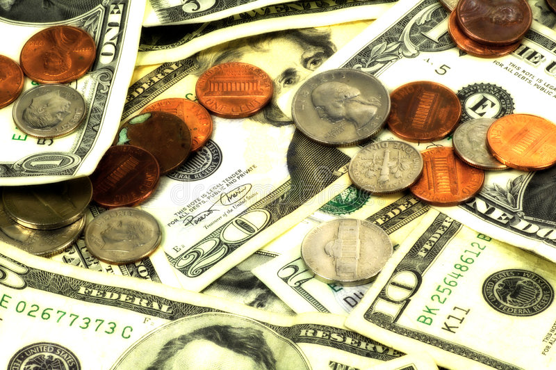 Fondo del dinero fotografía de archivo libre de regalías