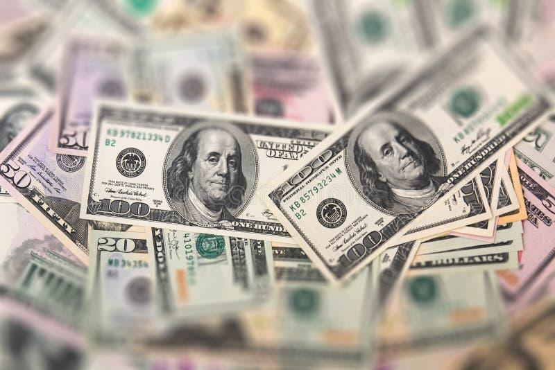 Fondo del dinero, focuse selectivo fotos de archivo libres de regalías