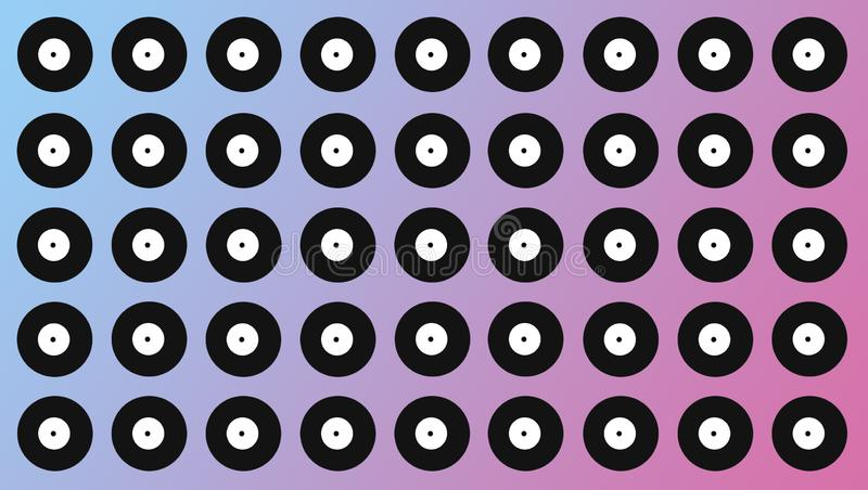 Fondo del disco Cerchi bianchi e neri variopinti fotografia stock libera da diritti
