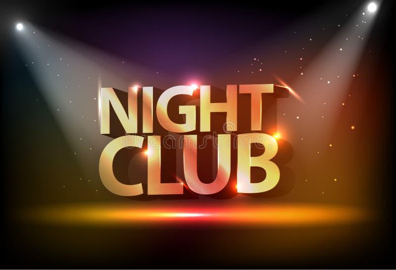 Fondo del disco. Club de noche ilustración del vector