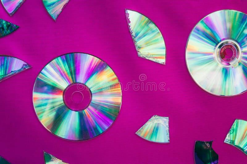 Fondo del disco d'annata di DVD o del CD fotografia stock