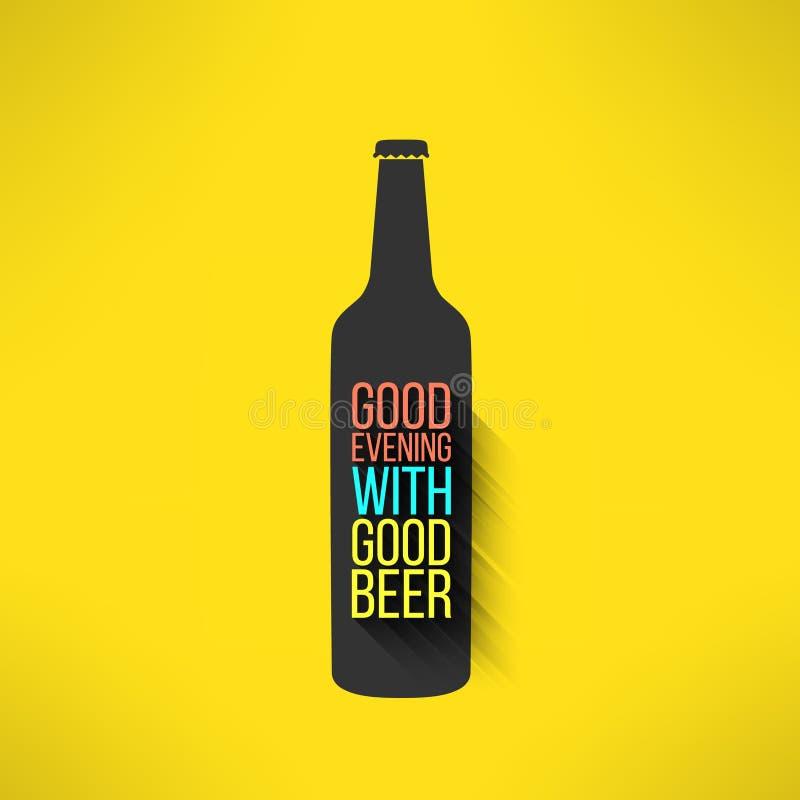 Fondo del diseño de la botella de cerveza del vector con un fresco libre illustration