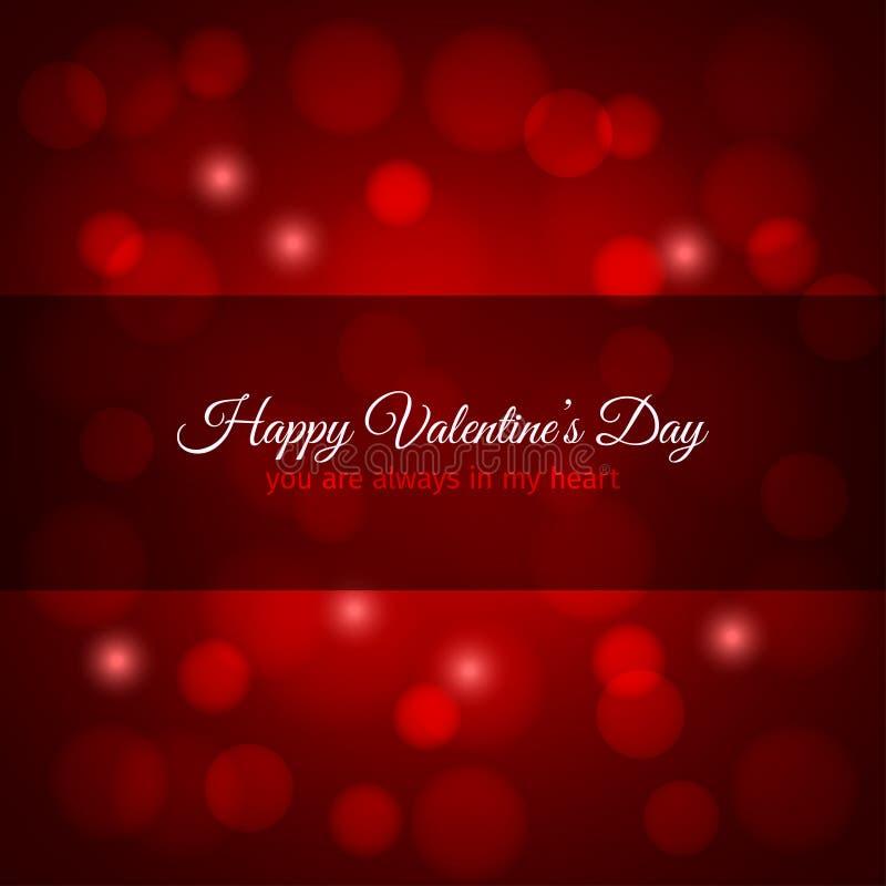 Fondo del diseño de las luces rojas del día de tarjetas del día de San Valentín libre illustration