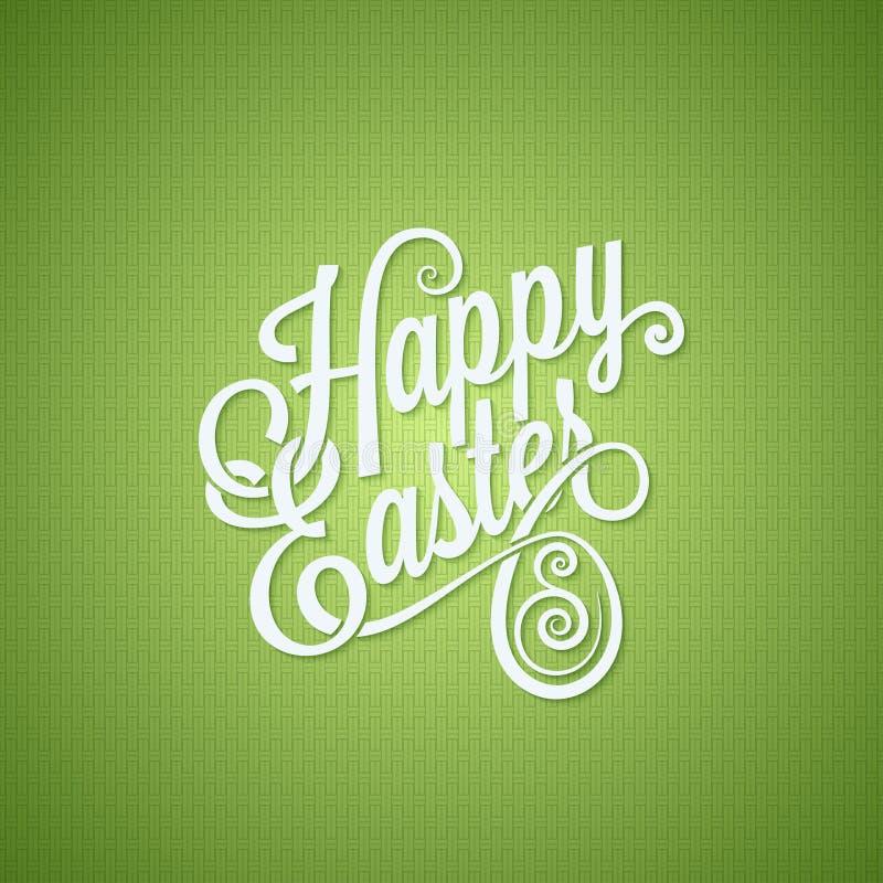 Fondo del diseño de letras del vintage del huevo de Pascua stock de ilustración