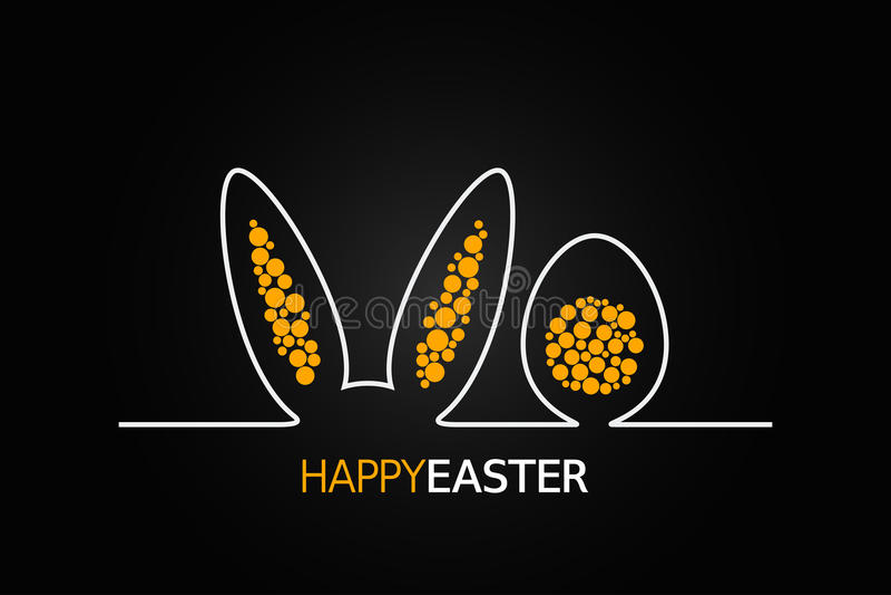 Fondo del diseño de Pascua stock de ilustración