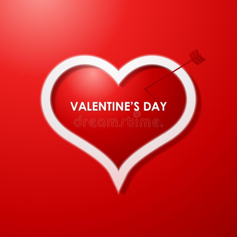 Fondo del diseño de tarjeta del día de tarjetas del día de San Valentín libre illustration