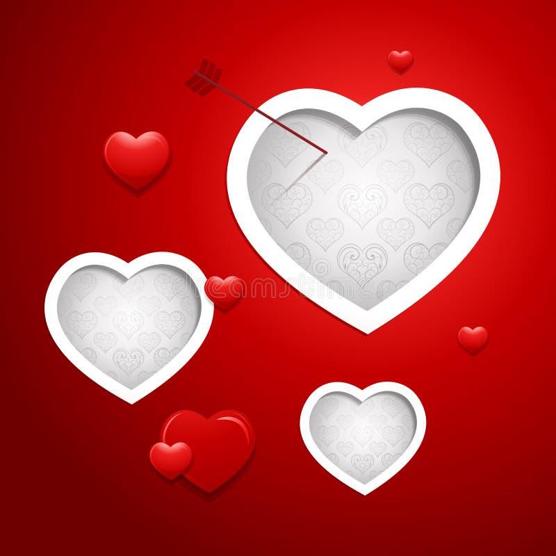 Fondo del diseño de tarjeta del día de tarjetas del día de San Valentín ilustración del vector