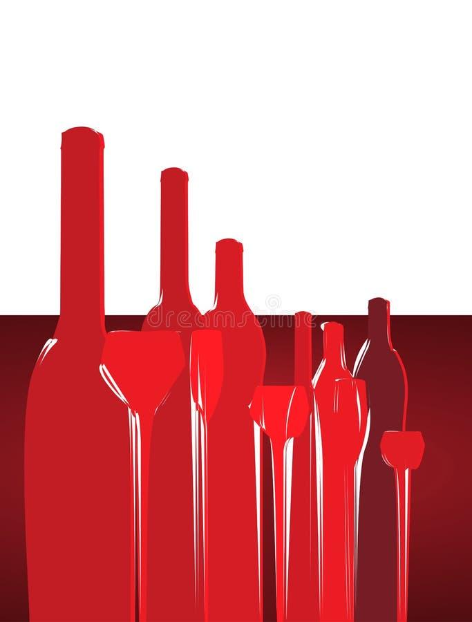 Fondo del diseño de tarjeta del menú del vino ilustración del vector