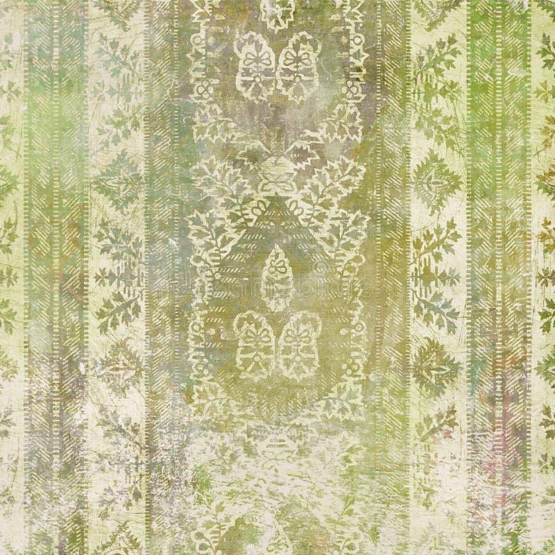Fondo del diseño floral del batik de Artisti stock de ilustración